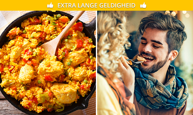 Afhalen: paella met kip bij Le Goût Soirée