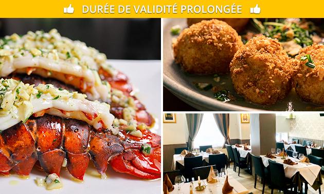 À emporter ou à livrer : menu homard en 2 services