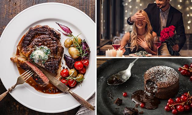 À livrer ou à emporter : menu Saint-Valentin + évtl. prosecco rosé