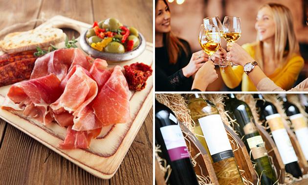 Mini-wijnproeverij + tapasbordje in hartje Hasselt