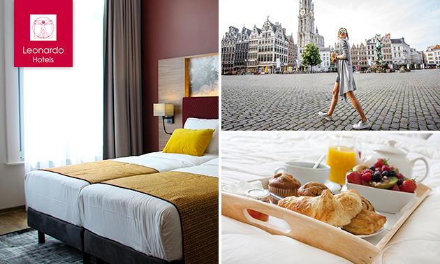 Overnachting voor 2 + ontbijt in Antwerpen