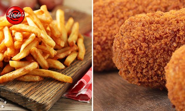 Afhalen: friet + snacks + saus voor 4 tot 5 personen