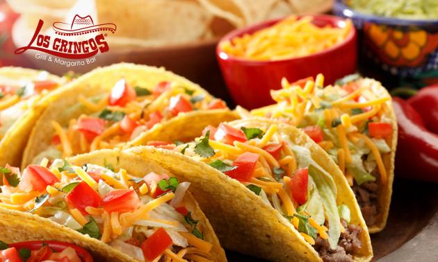 Menu en 2 services avec tacos à volonté + dessert