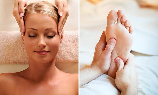 Hoofdmassage + evt. voetmassage