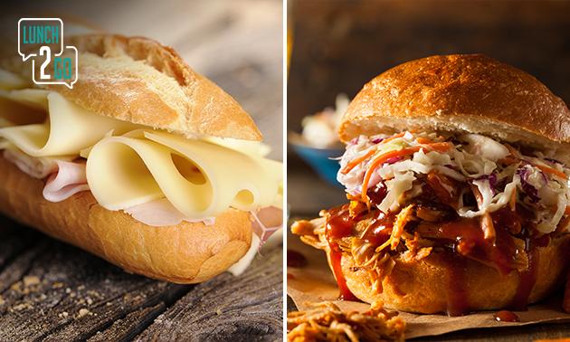 Afhalen: belegd broodje of burger + frisdrank
