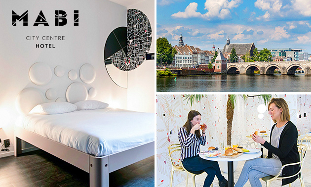 Overnachting voor 2 personen + ontbijt in hartje Maastricht