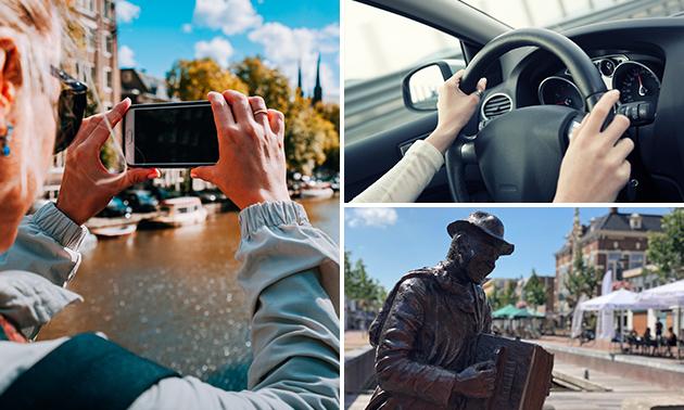 Foto-puzzeltocht (2 à 3 uur) voor auto of motor