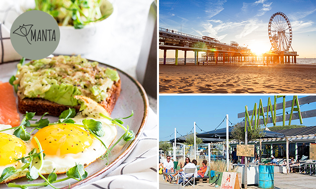 Ontbijt + evt. huur strandbedje bij Manta Beach