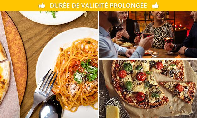 Menu italien en 2 services au choix