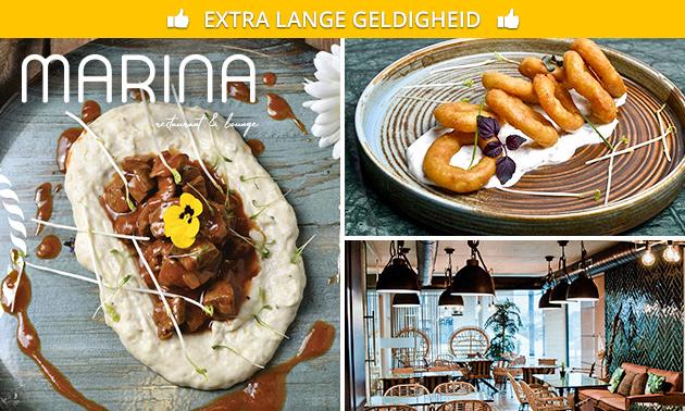 4-gangen keuzediner bij Marina Restaurant & Lounge