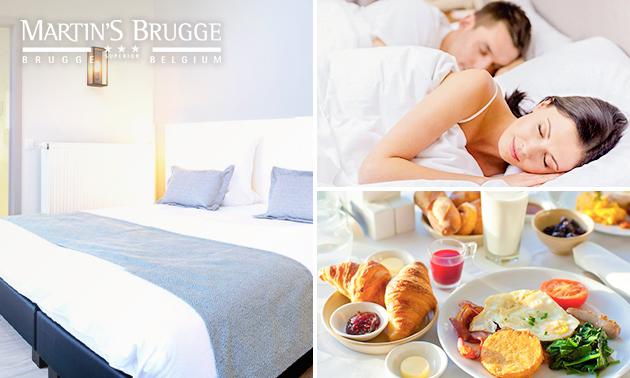 Overnachting(en) + ontbijt voor 2 in hartje Brugge