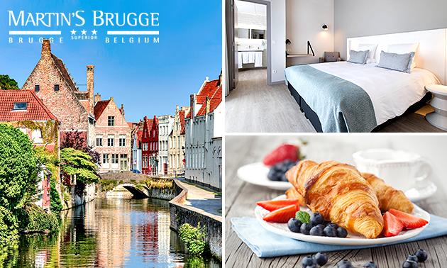 Overnachting voor 2 + ontbijt bij Martin´s in hartje Brugge
