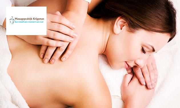 Massage naar keuze (30, 45, 60 of 75 min)