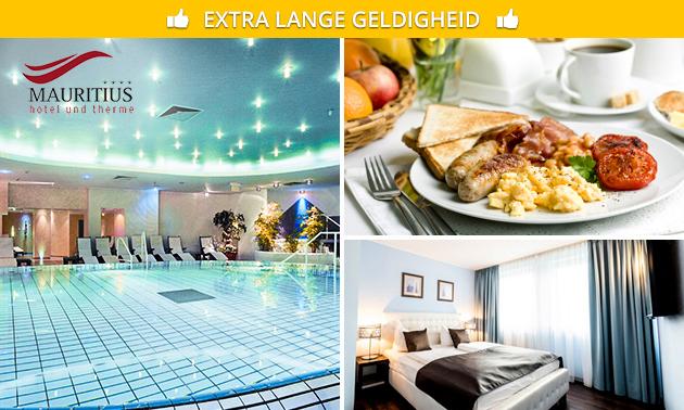 Overnachting + ontbijt + wellness voor 2 in Keulen
