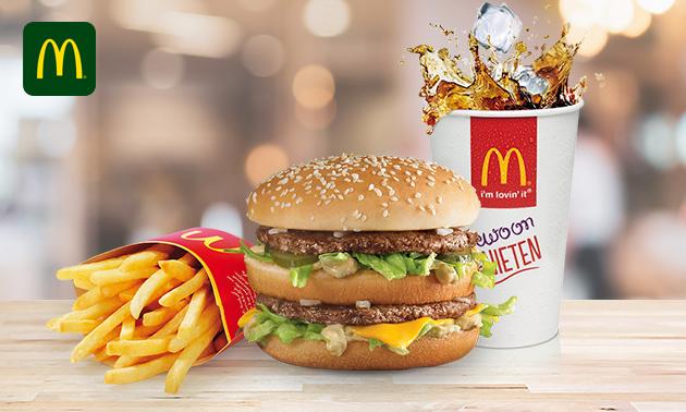 Afhalen: groot voordeelmenu bij McDonald's