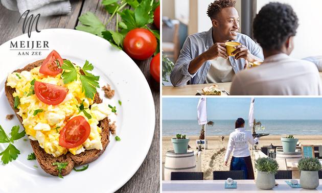 Luxe ontbijt op het strand bij Meijer aan Zee