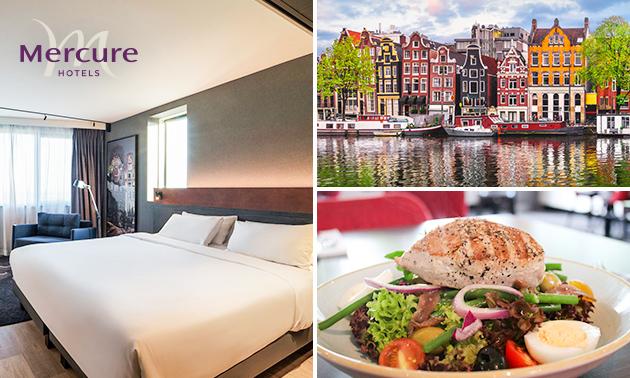 Overnachting voor 2 + ontbijt + evt. diner in Amsterdam