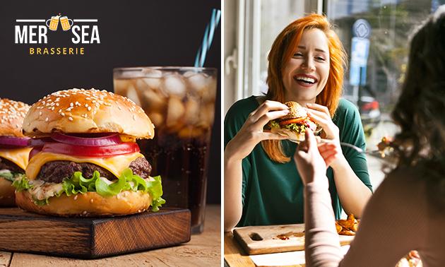 Burger + drankje naar keuze in hartje Oostende