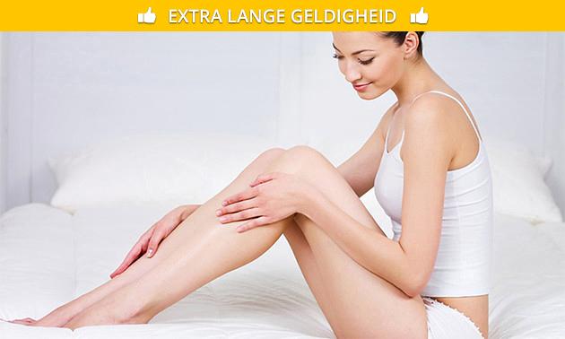 Waxbehandeling van 3 zones + massage (75 min)