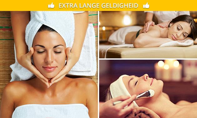 Gezichtsbehandeling of massage-arrangement voor 2