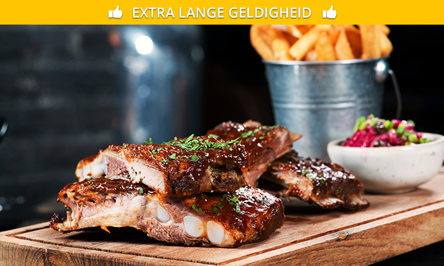 All-You-Can-Eat spareribs + dessert bij Mister Ribs