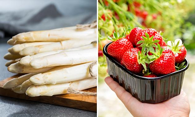 Afhalen: 500 gram asperges + krieltjes + aardbeien