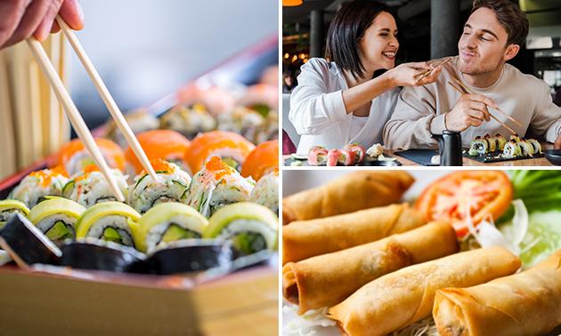 Afhalen: 2-gangen sushidiner bij Muji Sushi