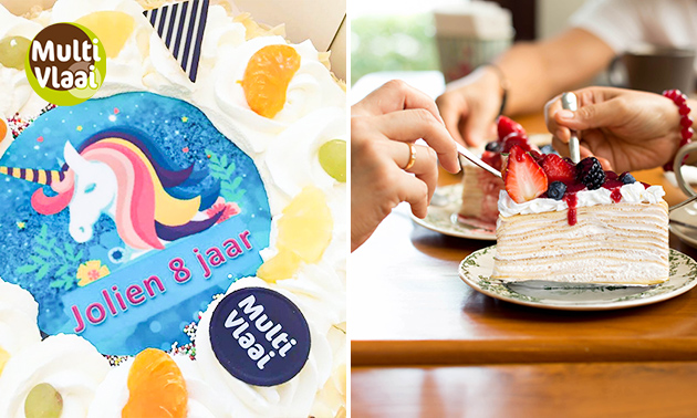 Slagroomtaart met eigen foto voor 10, 20 of 40 personen