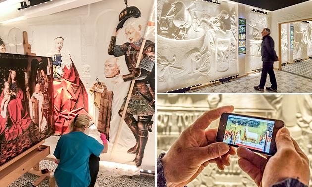 Entree voor Musea Sculpta in hartje Brugge