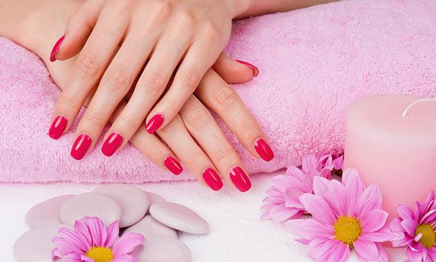 Manicurebehandeling of nieuwe set PowerGel-nagels