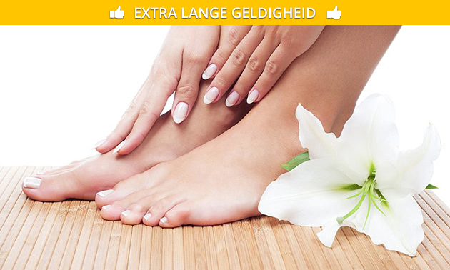 Manicure- of pedicurebehandeling + evt. gellak
