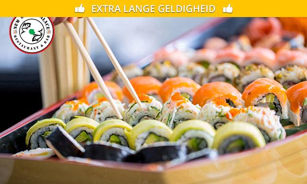 3-gangen sushidiner bij New Sushi Palace