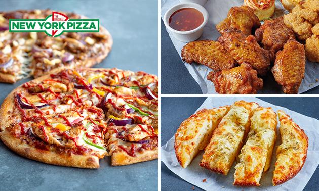 Afhalen: New York Pizza (25 cm) + bijgerecht