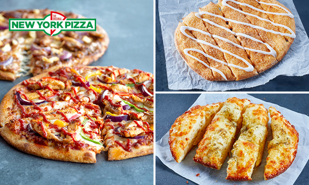 Afhalen: New York Pizza + snack naar keuze