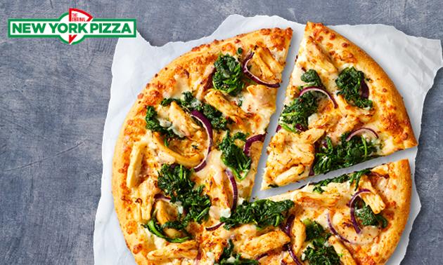 Afhalen: pizza naar keuze bij New York Pizza