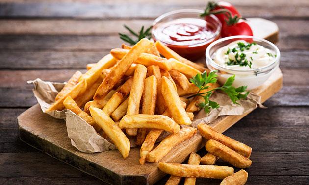 1, 5 of 10 porties friet met saus naar keuze