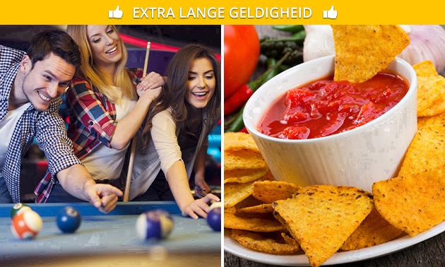 2 uur poolen evt. + nacho's en drankje