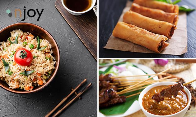 Afhalen: Chinees diner voor 2 tot 4 personen bij Njoy