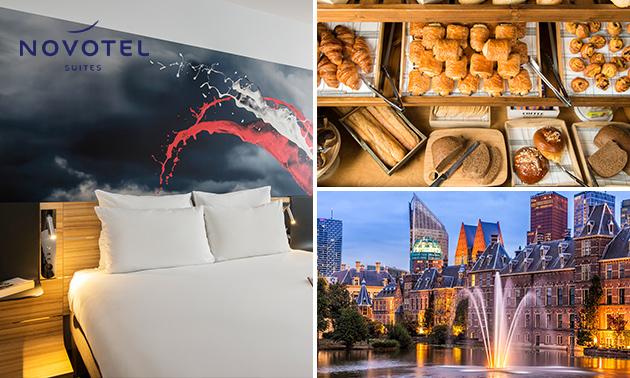 Overnachting voor 2 + ontbijt + drankje in hartje Den Haag