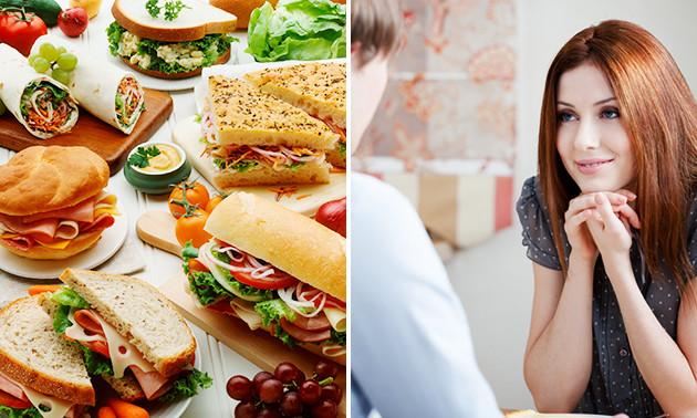 50 mini-sandwiches voor 10 tot 12 personen