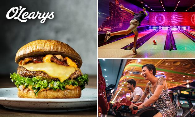 Diner + bowlen + 2 arcadejetons bij O'Learys