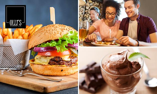 Burger + dessert à la carte