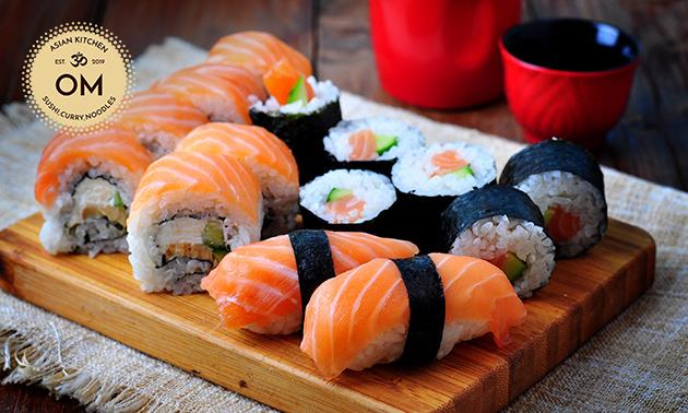 Afhalen: 2-gangen sushidiner voor 2 bij OM Sushi Gent