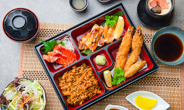 Afhalen: bentobox-diner bij Oni Japanse Dining