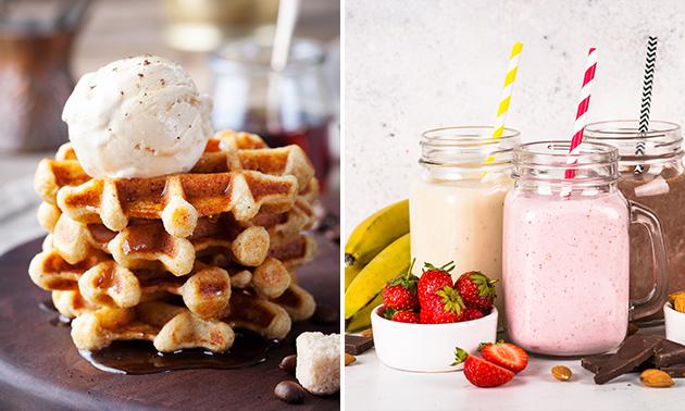 Afhalen: milkshake naar keuze + wafel in hartje Brugge