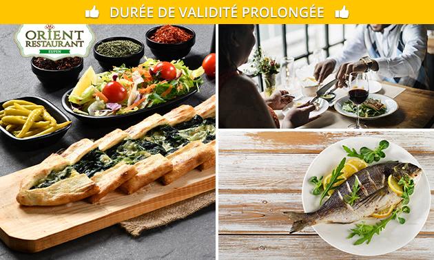 Menu turc en 4 services au choix à l'Orient Restaurant