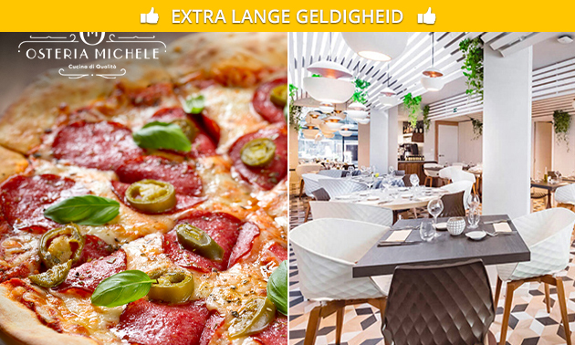 Pizza naar keuze bij Osteria Michele