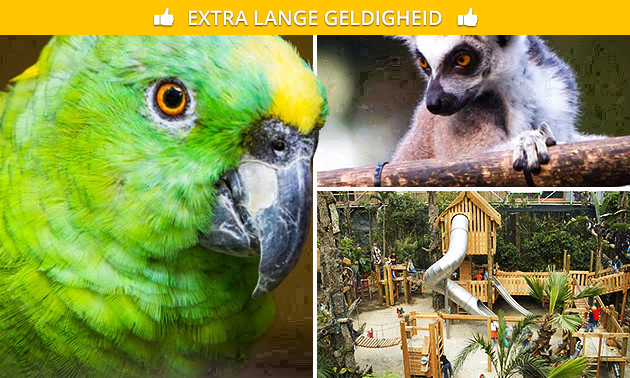Familieseizoenskaart Papegaaienpark Zoo Veldhoven