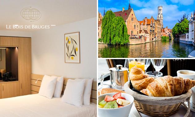 Overnachting voor 2 + ontbijt in hartje Brugge