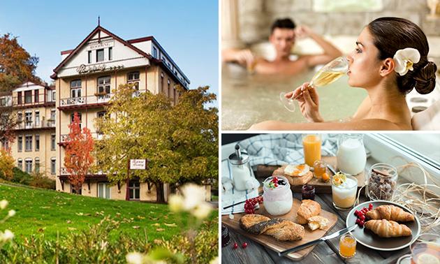Overnachting + ontbijt + wellness voor 2 in Valkenburg
